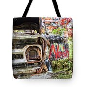 Abandoned Truck With Spray Paint Tote Bag
