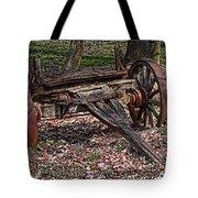 Abandoned Wagon Tote Bag by Tom Mc Nemar