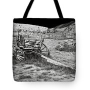 Abandoned Wagons Of Bannack Montana Ghost Town Tote Bag by Daniel Hagerman