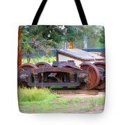 Abandoned Wheels Tote Bag