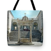 Abbey Of Montecassino Courtyard Tote Bag