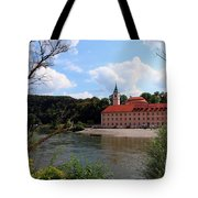 Abbey Weltenburg And Danube River Tote Bag