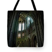 Abbey With Heavenly Light Tote Bag