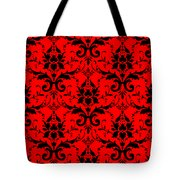Abby Damask In Black Pattern 02-p0113 Tote Bag
