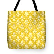 Abby Damask In White Pattern 05-p0113 Tote Bag
