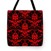 Abby Damask With A Black Background 02-p0113 Tote Bag