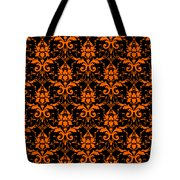 Abby Damask With A Black Background 03-p0113 Tote Bag