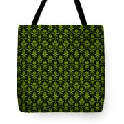 Abby Damask With A Black Background 09-p0113 Tote Bag
