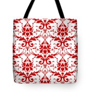 Abby Damask With A White Background 02-p0113 Tote Bag