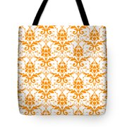 Abby Damask With A White Background 03-p0113 Tote Bag