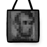 Abe In Black And White Tote Bag