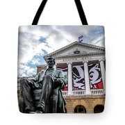 Abe On Bascom Hill Tote Bag