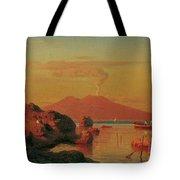 Abendlicher Blick Ber Den Golf Von Neapel Tote Bag