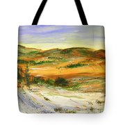 Aberdeen Winter Landscape Tote Bag