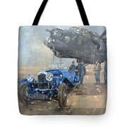 Able Mable And The Blue Lagonda  Tote Bag
