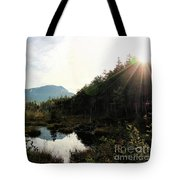 Abol Mt And Round Pond Tote Bag
