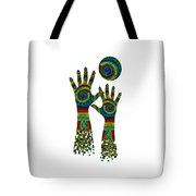 Aboriginal Hands Gold Transparent Background Tote Bag