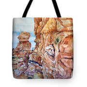 Above Canyonlands Campground Tote Bag