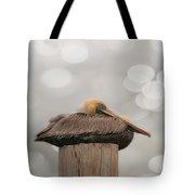 Above It All - Brown Pelican Tote Bag