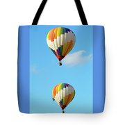Above One Another Tote Bag