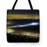 Above The Fog Tote Bag by Windy Corduroy