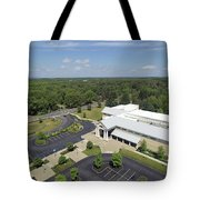 Above The Library Iv Tote Bag
