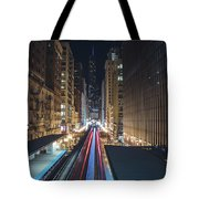 Above The Loop Towards The Trump Tower Tote Bag