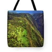 Above The Valleys Tote Bag