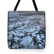 Abraham Lake Ice Bubbles Tote Bag
