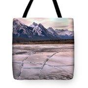 Abraham Lake Ice Sheets Tote Bag