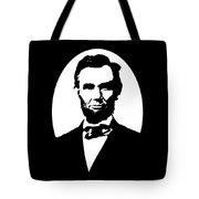 Abraham Lincoln - Black And White Tote Bag