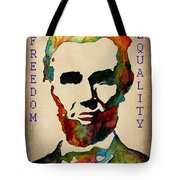 Abraham Lincoln Leader Qualities Tote Bag