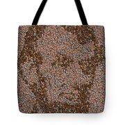 Abraham Lincoln Penny Mosaic Tote Bag by Paul Van Scott