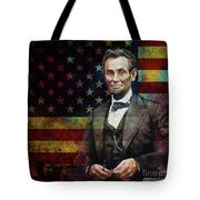 Abraham Lincoln The President  Tote Bag