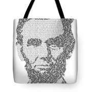 Abraham Lincoln Typography Tote Bag