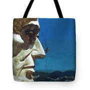 Abraham Lincoln's Nose On The Mount Rushmore National Memorial  Tote Bag