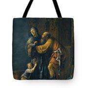 Abraham Pleading With Sarah On Behalf Of Hagar Tote Bag