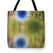 Abstact Sphere Over Water Tote Bag