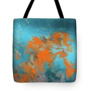 Abstract 104 Digital Oil Painting On Canvas Full Of Texture And Brig Tote Bag