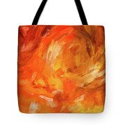 Abstract 106 Digital Oil Painting On Canvas Full Of Texture And Brig Tote Bag
