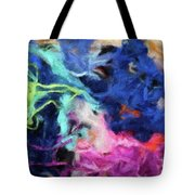 Abstract 130 Digital Oil Painting On Canvas Full Of Texture And Brig Tote Bag