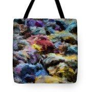 Abstract 133 Digital Oil Painting On Canvas Full Of Texture And Brig Tote Bag