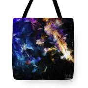 Abstract 134 Digital Oil Painting On Canvas Full Of Texture And Brig Tote Bag