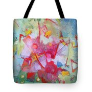 Abstract 2 With Inscribed Red Tote Bag