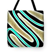 Abstract 35 Golden Tan Green Turquoise Tote Bag