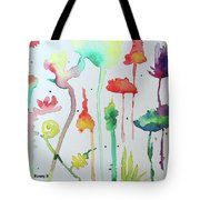 Blob Flowers Tote Bag
