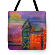 Abstract - Acrylic - Lost In The City Tote Bag