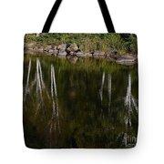 Abstract Along The River Tote Bag