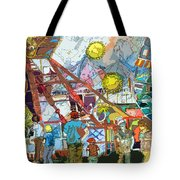 Abstract Amusement Park Tote Bag