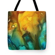 Abstract Art Colorful Turquoise Rust River Of Rust IIi By Madart Tote Bag